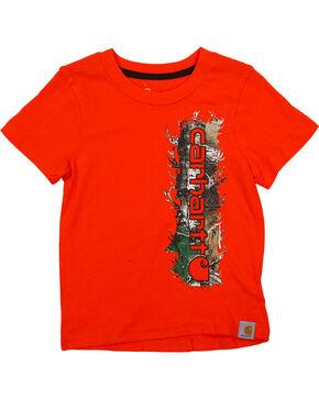 Carhartt Toddler Boys' Orange Vertical Camo Tee , Orange, hi-res