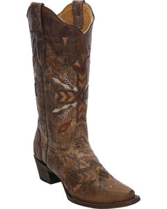 Corral Women's Tribal Embroidered Cowgirl Boots - Snip Toe, , hi-res