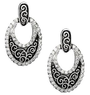 Montana Silversmiths Filigree Oval Earrings, Silver, hi-res