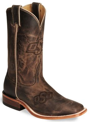 Nocona Oklahoma State College Boots - Square Toe, Tan, hi-res