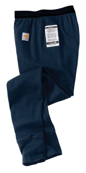 Carhartt Men's Flame-Resistant Base Force Cold Weather Bottoms, Navy, hi-res