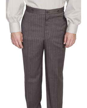 Wahmaker Old West by Scully Wool Stripe Pants, Brown, hi-res