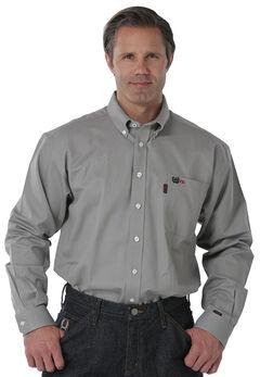 Cinch Men's Flame-Resistant Gray Work Shirt, , hi-res