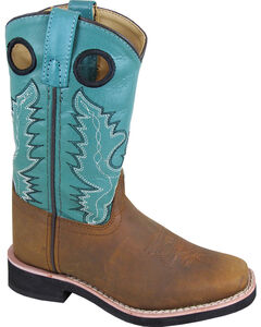 Smoky Mountain Youth Girls' Pueblo Western Boots - Square Toe , , hi-res