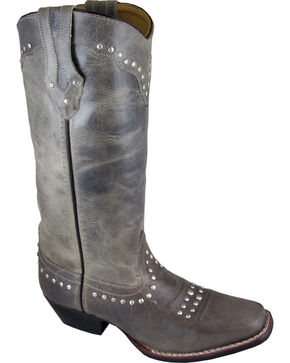 Smoky Mountain Laurel Cowgirl Boots - Square Toe, Grey, hi-res