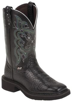 Justin Gypsy Black Pearl Print Cowgirl Boots - Square Toe, , hi-res