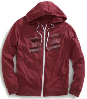 Tin Haul Men's Vintage Logo Zip-Up Hoodie, Red, hi-res