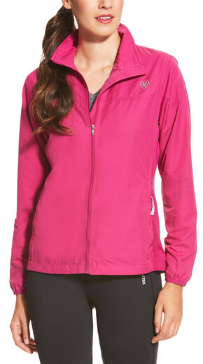 Ariat Women's Magenta Ideal Windbreaker Jacket, Magenta, hi-res