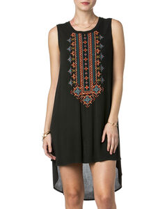 Miss Me Women's Just Right Embroidered High-Low Tank Dress, , hi-res