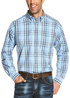 Ariat Men's Blue Oakridge Long Sleeve Shirt - Big and Tall , Blue, hi-res