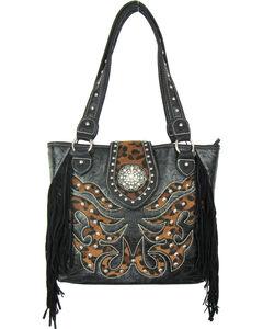 Savana Black Conceal Carry Tote Bag, , hi-res
