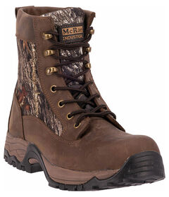 "McRae Men's Camo 7"" Lace Up Work Boots - Composite Toe , , hi-res"