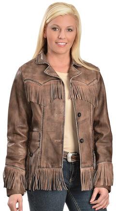 Scully Lamb Leather Fringe Jacket, , hi-res