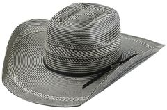 Tony Lama Vegas Black & White Straw Cowboy Hat, , hi-res