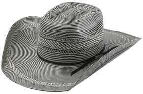 Tony Lama Vegas Black & White Straw Cowboy Hat, Blk/white, hi-res