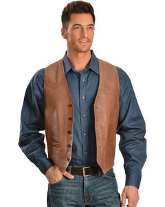 Scully Lamb Leather Vest, , hi-res