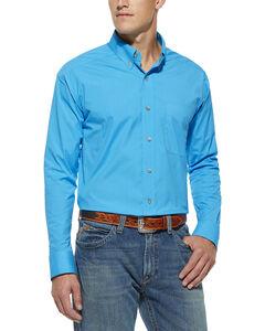 Ariat Pro Series Solid Poplin Scuba Blue Shirt, , hi-res