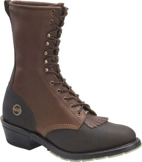 Double H Men's ICE Packer Boots - Round Toe, Dark Brown, hi-res