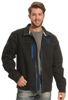 Cowboy Hardware Men's Black and Blue Woodsman Jacket , Black, hi-res