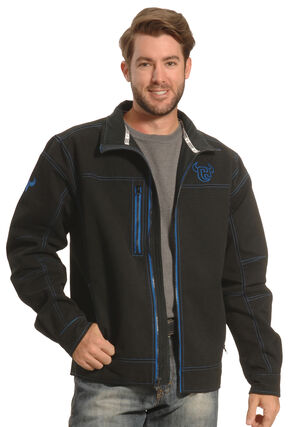Cowboy Hardware Men's Black and Blue Woodsman Jacket , Black, hi-res