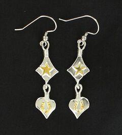 Lightning Ridge Star, Heart & Horseshoe Charm Earrings, , hi-res