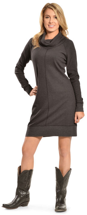 Woolrich Women's Fairmount Waffle Dress, Black, hi-res