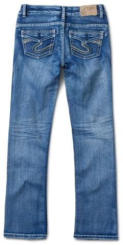 Silver Girl's Indigo Medium Wash Jeans - Boot Cut, , hi-res