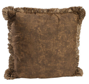 Karin Maki Wild Horses Euro Fringed Pillow, Brown, hi-res