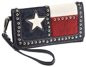 Blazin Roxx Texas Flag Faux Leather Wallet, Multi, hi-res