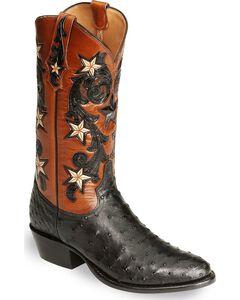 Tony Lama Signature Series Full Quill Ostrich Western Boots - Medium Toe, , hi-res