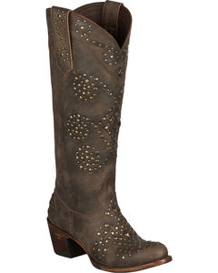 Lane Glam Cowgirl Boots - Round Toe, Brown, hi-res