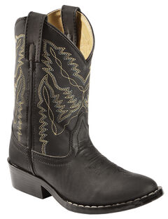 Swift Creek Boys' Black Cowboy Boots - Round Toe, , hi-res