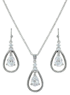 Montana Silversmiths Catch the Rain Jewelry Set , Silver, hi-res
