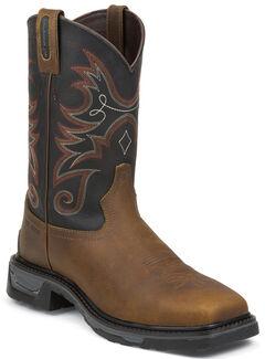 Tony Lama Walnut Tacoma TLX Western Work Boots - Comp Toe , , hi-res