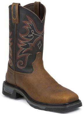 Tony Lama Walnut Tacoma TLX Western Work Boots - Comp Toe , Walnut, hi-res