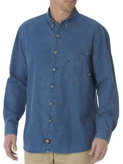 Dickies Stonewash Denim Work Shirt - Big & Tall, , hi-res