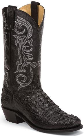 Nocona Black Hornback Gator Grain Gentleman's Cowboy Boots - Square Toe , Black, hi-res