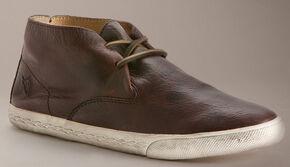 Frye Women's Mindy Chukka Shoes - Round Toe, Dark Brown, hi-res