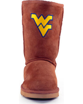 Gameday Boots Women's West Virginia University Lambskin Boots, Tan, hi-res