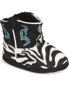 Montana Silversmiths Toddler Boys' Zebra Cowboy Kickers - (9-12), , hi-res