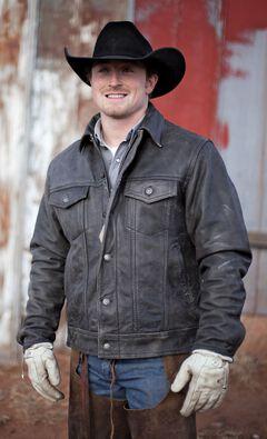 STS Ranchwear Men's Maverick Black Leather Jacket - Big & Tall - 2XL-3XL, , hi-res