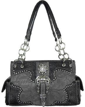Savana Women's Grey Concealed Carry with Tooled Design Handbag, Bronze, hi-res