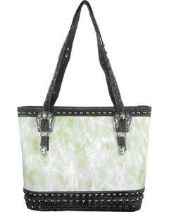 Savana Women's Ivory Concealed Carry Tote Bag with Croco Trim, , hi-res