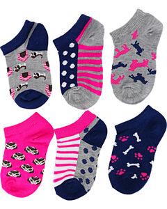 La De Da Girls' Puppy No Show Socks, , hi-res