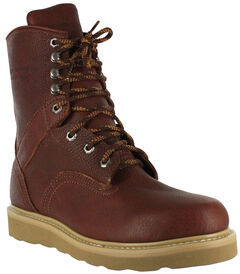 "American Worker Men's 8"" Lace-Up Work Boots , , hi-res"