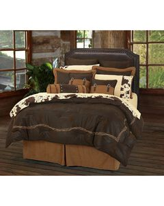 HiEnd Accents Embroidered Barbwire 7-Piece Queen Comforter Set, , hi-res