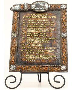 Western Moments Cowboy Commandments with Easel, , hi-res