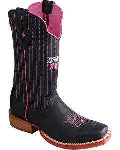 Twisted X Women's Tough Enough to Wear Pink Red River Cowgirl Boots - Square Toe, , hi-res