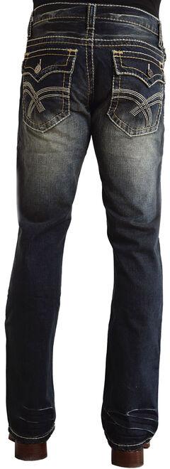 "Stetson Rock Fit Curved ""X"" Stitched Flap Pocket Jeans, , hi-res"