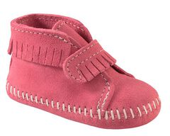 Minnetonka Infant Girls' Fringe with Velcro Strap Bootie, , hi-res